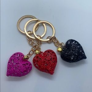 Heart Keychains with a Large Loop